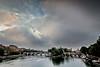 Paris, les îles (Michel Couprie) Tags: bridge sky paris france seine clouds sunrise river ile pont isle îledelacité