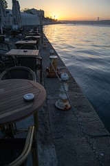 Cafe 2 (Dwain Earfalas) Tags: sea sunrise seaside cafe istanbul bosphorus brigde kafe dolmabahe