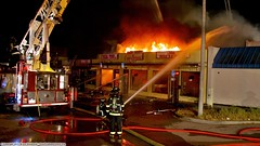 3 Alarm fire destroys Sunnyvale strip mall (YFD) Tags: california usa public canon fire sunnyvale action 911 safety firetruck emergency ems canoneos firedepartment dps departmentofpublicsafety eos7d departmentfire 7dfirefire truckactionemsemergency911sunnyvaledpsdepartment