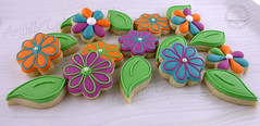 IMG_0563 (Artfully Delicious Cookies) Tags: flower cookies cut sugar decorated outs