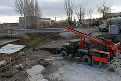 Machine piling (Igor Golovnov) Tags: road sky building industry outdoors site wire construction highway energy mine industrial technology power hole image diesel earth steel pipe platform machine progress engineering ground cable rope boom dirty mining well foundation equipment machinery pile shore rig spinning minerals oil vehicle dust derrick exploration constructionsite samples core drill oilfield piles drilling bore excavation hydraulic earthworks auger piledriver constructionmachine onshore borehole buildingactivity