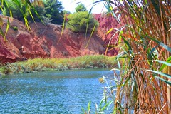 Cava di bauxite - Otranto (Davide De Filippis) Tags: red sea wild summer sun hot green nature water beautiful sunshine wonderful landscape blu otranto