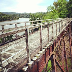 New River trestle 8 mile post (DieselDucy) Tags: square squareformat rise iphoneography instagramapp uploaded:by=instagram foursquare:venue=51a12958498eab4b4079e749