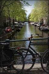 (Iam Marjon Bleeker) Tags: holland amsterdam bike bicycle canal spring jordaan gracht springinamsterdam abikeinamsterdam harrywestertoren075g