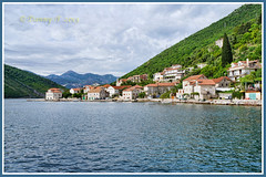 Lepetane, Montenegro (Danny~F) Tags: blue sea sky mountains green water clouds bay cloudy hills montenegro balkan kotor lepetane