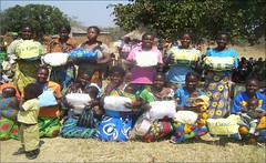 Mothers with kits in Katete, Zambia (CLWR1) Tags: kits quilts zambia shipment wecare wecarekits
