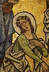Mary Magdalene, Stations of the Cross (ktmqi) Tags: newjersey mosaic newark neogothic stationsofthecross romancatholic marymagdalene sacredheartcathedral