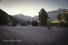 Early morning departure from Telluride. (RideTheRockies) Tags: day1 telluride cortex featured rtr2013