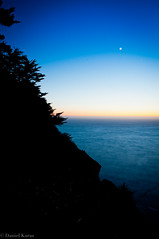 Moon Over Water (D.P. Kuras) Tags: ocean life california longexposure travel trees sea vacation moon mountains nature beauty stars landscape coast surf pacific bigsur surfing planet thankful centralcoast blessed