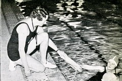 Swimming Team (Hunter College Archives) Tags: building students swimming buildings photography interior hunter athletes 1937 huntercollege wistarion thewistarion