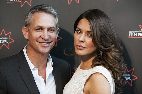 Gary Lineker and Danielle Bux at the We Are The Freaks photocall