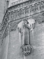 Guardian (K.G.Hawes) Tags: blackandwhite white black france building church statue architecture angel buildings de french religious wings cathedral lyon basilica religion wing creative statues commons christian notredame cc angels creativecommons christianity notre dame winged angelic église eglise lyons basilique fourviere fourvière notredamedefourviere