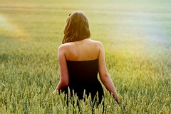 Summer (Markta Vesel) Tags: summer sun nature field grass cool republic dress czech pole lto proda