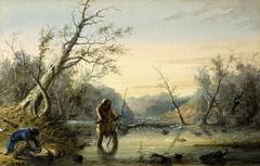A.J.MILLER-131-Trapping Beaver (osocnart.leafar) Tags: usa pintura estadosunidos oleo eeuu alfredjacobmiller indiosnorteamericanos pintornorteamericano oestenorteamericano