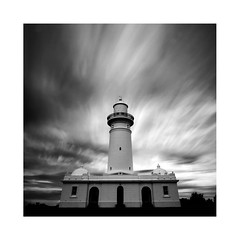 Upper Light (Monochrome Visions) Tags: longexposure lighthouse monochrome square mono big focus sydney australia beacon dijkstra macquarielighthouse 10nd monochromevisions stopperdexodexocanonvauclusecloudssky2013douwe