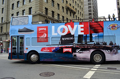 Love Bus (earthdog) Tags: sanfrancisco bus car word boat nikon publictransit transit advert masstransit americascup 2013 afsdxvrzoomnikkor1855mmf3556g d5100 nikond5100