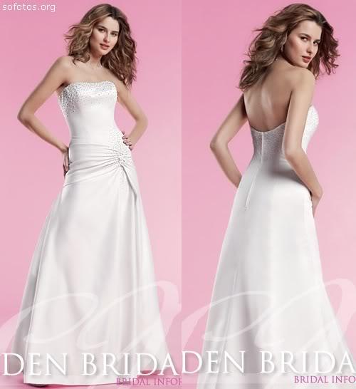 Vestidos de noiva simples e bonito