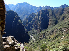 Peru - Machu Picchu - Valley of Urubamba river and Putucusi Peak