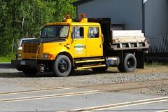 ADIX Hi-Rail Truck (ironmike9) Tags: railroad truck rail railway adirondacks international hirail adix adirondackscenicrailroad thendarany adirondackscenicrr