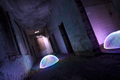 I've Seen The Light ( EXPLORE) (Cowboy 55) Tags: light lightpainting abandoned decay corridor creepy doorway dome peel asylum