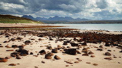 Big Sand (Youronas) Tags: ocean greatbritain sea sky beach nature clouds canon landscape scotland seaside highlands rocks natur shore 7d loch peaks landschaft darkclouds schottland gairloch 1585 bigsand lochgairloch canon7d canon1585