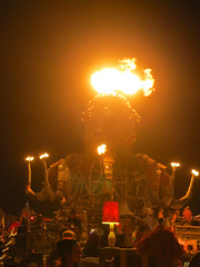2013_0831_032 (seannarae) Tags: night fire saturday august burningman blackrockcity brc s100 manburn 2013 elpulpomechanico brc2013