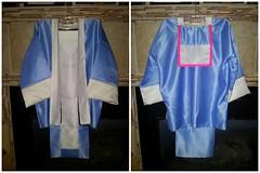 tsho hmoob thiab daim sev #5 (Melonblossomlee) Tags: pink blue woman shirt 5 traditional ivory apron jacket sev hmong hmoob tsho flickrandroidapp:filter=none
