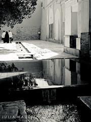 Pools, Bagh-E Fin, Kashan, Iran (juliamaudlin) Tags: bw iran kashan bwphotography blackandwhitephotography fingarden baghefin splittoneprocessing
