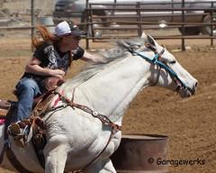 Dewey Barrel Race (Garagewerks) Tags: arizona horse woman sport female race all sony country barrel arena rodeo dewey cowgirl athlete equine 50500mm views50 views100 f4563 slta77v