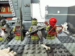 Moria Orcs!!! (Nilbog Bricks) Tags: castle lotr fantasy knight minifig archer custom hobbit axeman minifigure moc hoplite chieftain swordsman pikeman minifigures crossbowman beastmaster
