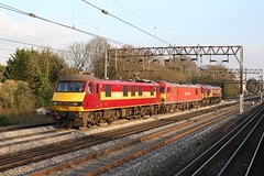 90026 92016 66154 (DennisDartSLF) Tags: london train 90026 ews class90 southkenton 66154 92016 englishwelshandscottishrailway