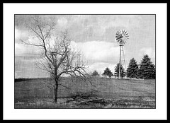 Happy Windmill Wednesday........{Explore} 5-14-2015 (novice09) Tags: blackandwhite windmill wednesday mono ipiccy