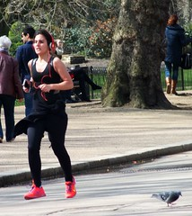 London Runner (Waterford_Man) Tags: park people london girl path candid running run jogging runner jog jogger