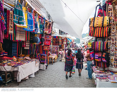 Chichicastenango Market in Guatemala (Vincent Demers - vincentphoto.com) Tags: voyage street trip travel latinamerica market guatemala textile tuktuk chichicastenango centralamerica vendors quiché traveldestination chichicastenangomarket