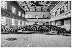 Abandoned Auditorium - DSC_7528 (Floater Ya-Ya (Jean McKenna)) Tags: school bw auditorium schuylkillcounty abandonedamerica shenandoahpa jwcooperhs