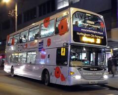 959 Poppy Bus 'Sean Upton' on 28 (timothyr673) Tags: scania omnidekka 959 poppybus silverspare spare bus nct nottinghamcitytransport