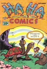 Ha Ha 22 (Michael Vance1) Tags: comics comicbooks cartoonist funnyanimals fantasy funny humor goldenage