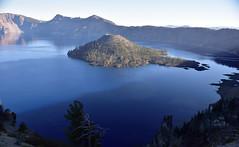 Crater Lake (RichSeattle) Tags: richseattle nikon d750 oregon roadtrip 2016 lake craterlake wizard wizardisland island water volcano crater trees blue