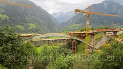Val Mulinaun Arch Bridge (under construction), Sumvitg, Grisons, Switzerland (jag9889) Tags: beton landscape bridge switzerland archbridge outdoor 2016 sumvitg new 20160910 construction crane disentis hauptstrasse jag9889 concrete europe cantonofgraubunden surselva bridges brã¼cke ch crossing disentismuster gr graubunden grisons helvetia infrastructure kantongraubã¼nden muster pont ponte puente schweiz suisse suiza suizra svizzera swiss somvix graubã¼nden