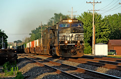 Last Train (craigsanders429) Tags: norfolksouthern norfolksoutherntrains tracks railroadtracks nschicagoline ns9681 intermodaltrains nsintermodaltrains olmstedfallsohio railfanninginolmstedfallsohio latedaylighting latedaylightphotographs