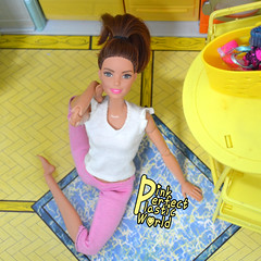 day 6b (pinkperfectplasticworld) Tags: djy08 barbie pink perfect plastic world int jour day nikon doll dolls poupe poupes puppen bambole poppen bonecas dockor nuket dukker  yoga     blue top fitness bambi made move mtm 2015 mueca muecas mattel 16 sport