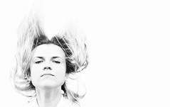Storm (Dominika Ruciska) Tags: portrait womenportrait womanportrait womenmonochrome monochrome blackandwhite wind emotional emotions studio framesstudiumfotografii frames expression passion highkey
