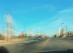 14/16 (nikaylasnyder) Tags: motion blur long exposure swirl landscape trees homes houses mcdonalds blue skies fall autumn filter