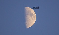 (2c..) Tags: jet plane aircraft ireland aerlingus moon sky evening 2c dublin aerbus