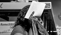 The list. (Baz 120) Tags: candid candidstreet candidportrait city candidface candidphotography contrast street streetphoto streetcandid streetphotography streetphotograph streetportrait streetfaces rome roma romepeople romecandid romestreets monochrome monotone mono blackandwhite bw urban noiretblanc voigtlandercolorskopar21mmf40 life leicam8 leica primelens portrait people unposed italy italia grittystreetphotography faces flashstreetphotography flash decisivemoment strangers