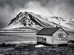 Iceland 2016- Snaefellsnes Peninsula (cesbai1) Tags: iceland islande islanda islandia snaefellsnes peninsula pninsule noir et blanc black white nb bw winter snow hiver march 2016 mars