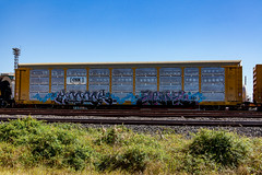 (o texano) Tags: houston texas graffiti trains freights bench benching mook elboe nfm mhc aos