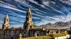Catedral de Arequipa (Miradortigre) Tags: peru arequipa church iglesia catedral cathedral basilica sillar stone whitestone