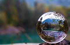 waterfall captured in a crystal ball (Vivien J-Dora) Tags: bokeh herbst fall langzeitbelichtung glaskugel bume trees waterfall wasserfall autumn 5dmarkiii fssen timeexposure allgu lechfall ndfilter crystalball allgu bume fssen