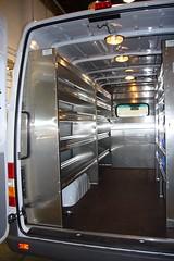 www.expertec.ca - Sprinter Van Upfit (wesbond) Tags: sprintervanupfittedwithshelving partition ladderrack bench drawersandbins